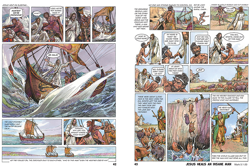 the comic book bible inside